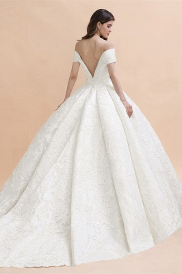 Princess Sweetheart Lace Ball Gown Wedding Dresses | Off The Shoulder Bridal Gown_2