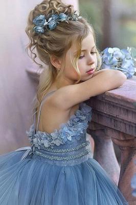 Cute Sequin Ball Gown Flower Girl Dresses   Little Tutu Girls Ruffles Party Dress For Wedding_5