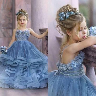 Cute Sequin Ball Gown Flower Girl Dresses   Little Tutu Girls Ruffles Party Dress For Wedding_6