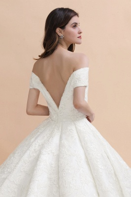 Princess Sweetheart Lace Ball Gown Wedding Dresses | Off The Shoulder Bridal Gown_4