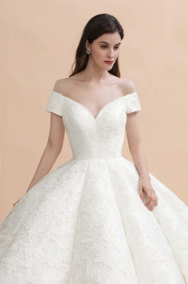 Princess Sweetheart Lace Ball Gown Wedding Dresses | Off The Shoulder Bridal Gown_5