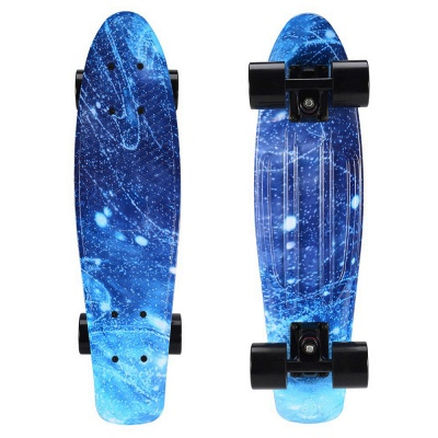 Kids Small Fish board Skateboard With Four LED Wheels_2