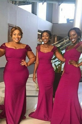 Off The Shoulder Sheath Bridesmaid Dresses | Sweetheart Prom Dresses
