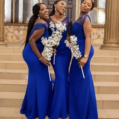 V Neck Mermaid Bridesmaid Dresses | 2021 Bridesmaid Dresses with Straps_3