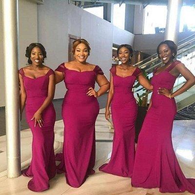 Off The Shoulder Sheath Bridesmaid Dresses | Sweetheart Prom Dresses_3