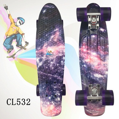 Children Skateboard  With Longboard Four Wheels Double Snubby Wood Skateboard_5