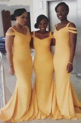 Off The Shouler Mermaid Bridesmaid Dresses   Floor Length Long Prom Dresses_2