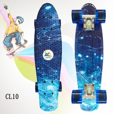 Outdoor Sport Plastic Finger Slide Four Wheel Scooter Kids  Skate Board