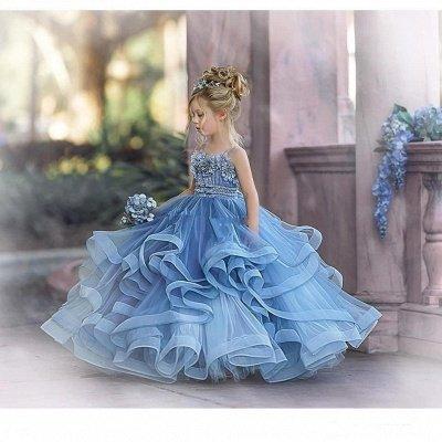 Cute Sequin Ball Gown Flower Girl Dresses | Little Tutu Girls Ruffles Party Dress For Wedding_7