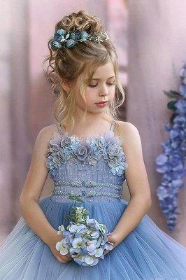 Cute Sequin Ball Gown Flower Girl Dresses | Little Tutu Girls Ruffles Party Dress For Wedding_4