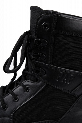 Ankle Bootie Winter Lace up Mid Calf Military Combat Boots On Sale_6