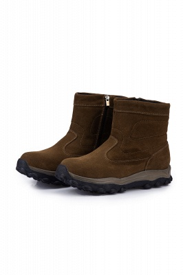 Winter Comfortable Outdoor Anti-Slip Suede Cotton Fur Lined Ankle Boots On Sale_1