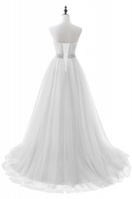 Cheap modest sweetheart sleeveless beading a-line prom dress in Stock_1