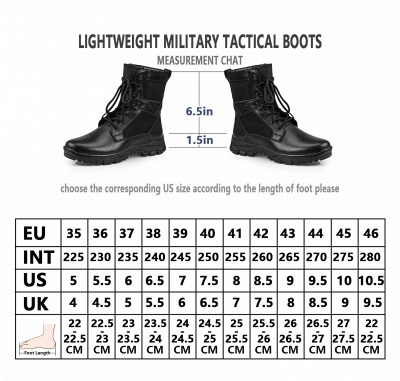 Ankle Bootie Winter Lace up Mid Calf Military Combat Boots On Sale_10