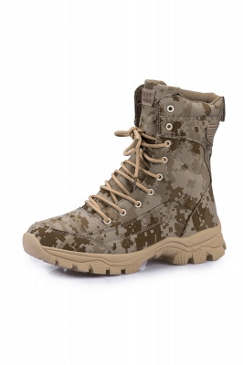 Military Lace Up Combat Boots Waterproof Ankle Bootie On Sale_10