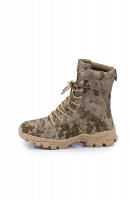 Military Lace Up Combat Boots Waterproof Ankle Bootie On Sale_2