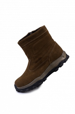 Winter Comfortable Outdoor Anti-Slip Suede Cotton Fur Lined Ankle Boots On Sale_11