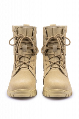 Outdoor Combat Ankle Boots Water Resistant Lightweight Mid Hiking Boots On Sale_3