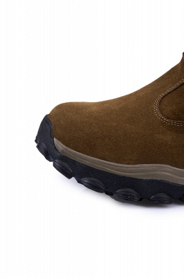 Winter Comfortable Outdoor Anti-Slip Suede Cotton Fur Lined Ankle Boots On Sale_3