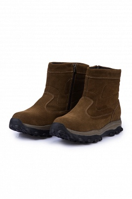 Winter Comfortable Outdoor Anti-Slip Suede Cotton Fur Lined Ankle Boots On Sale_8