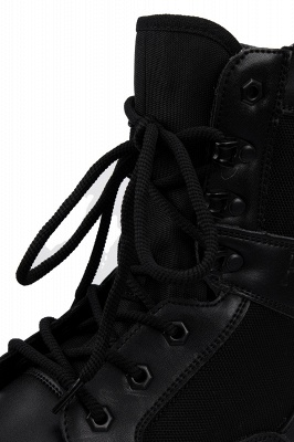 Ankle Bootie Winter Lace up Mid Calf Military Combat Boots On Sale_5