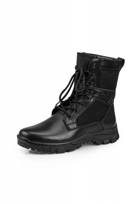 Ankle Bootie Winter Lace up Mid Calf Military Combat Boots On Sale_2