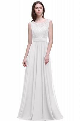 Cheap Sleeveless Lace Long Chiffon Prom Dress Online in Stock_1