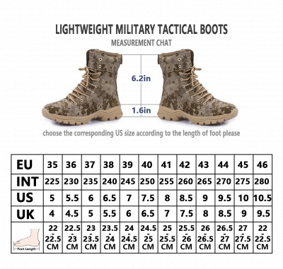Military Lace Up Combat Boots Waterproof Ankle Bootie On Sale_9