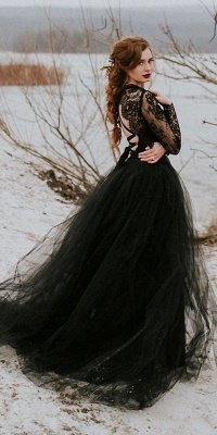 Gorgeous Tulle Lace Dark Green Princess Prom Dresses With Crisscross Straps_3