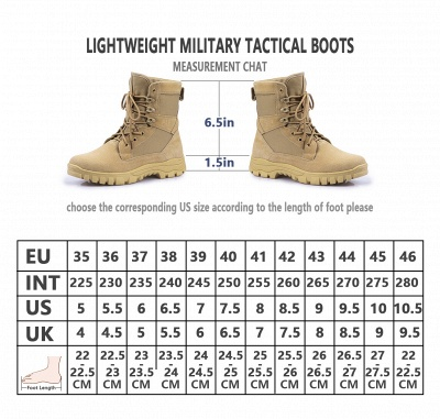 Outdoor Combat Ankle Boots Water Resistant Lightweight Mid Hiking Boots On Sale_13