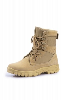 Outdoor Combat Ankle Boots Water Resistant Lightweight Mid Hiking Boots On Sale_2