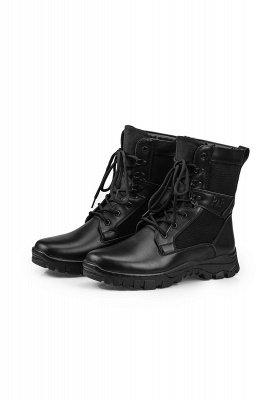 Ankle Bootie Winter Lace up Mid Calf Military Combat Boots On Sale_1