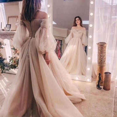 Princess Off The Shoulder Sweetheart Ball Gown Wedding Dresses_2