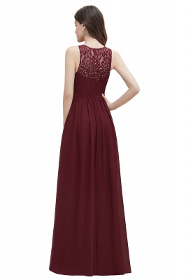 V-Neck A-line Chiffon Evening Maxi Dress Sleeveless Bridesmaid Wedding Guest Dress_17