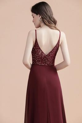 Elegant V-Neck Chiffon Evening Prom Dress for Women Straps Formal Maxi Dress_6