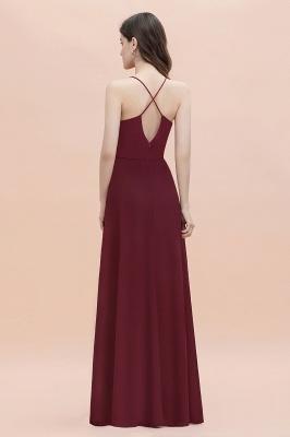 Straps Bateau A-line Sequins Evening Maxi Dress Elegant Chiffon Prom Dress_5