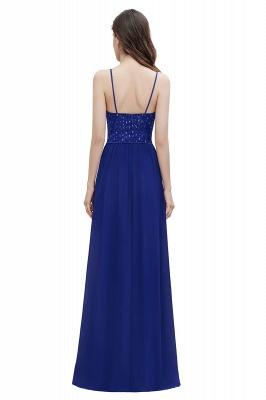 V-Neck Straps A-line Bridesmaid Dress Sequins Evening Dress_2