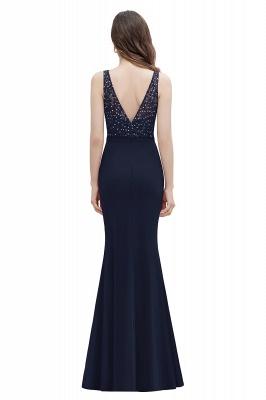 V-Neck Mermaid Evening Dress Sequins Chiffon Slim Party Dress_3