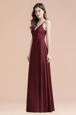 Elegant V-Neck Chiffon Evening Prom Dress for Women Straps Formal Maxi Dress_7