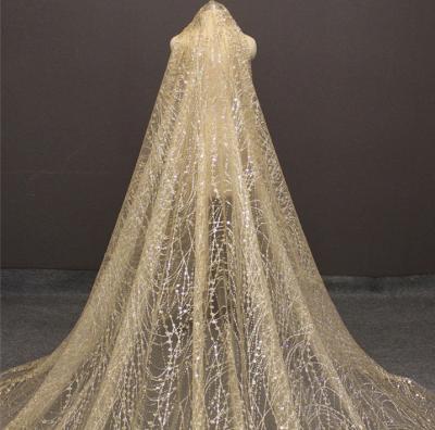 Cheap Tulle BlingBling Cut Edge 3*3M Wedding Veils_4