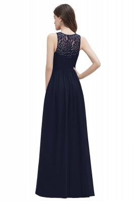 V-Neck A-line Chiffon Evening Maxi Dress Sleeveless Bridesmaid Wedding Guest Dress_16