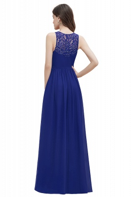 V-Neck A-line Chiffon Evening Maxi Dress Sleeveless Bridesmaid Wedding Guest Dress_14