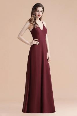 Elegant V-Neck Chiffon Evening Prom Dress for Women Straps Formal Maxi Dress_8