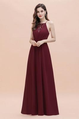 Straps Bateau A-line Sequins Evening Maxi Dress Elegant Chiffon Prom Dress_6