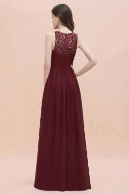 V-Neck A-line Chiffon Evening Maxi Dress Sleeveless Bridesmaid Wedding Guest Dress_5