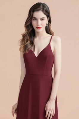 Elegant V-Neck Chiffon Evening Prom Dress for Women Straps Formal Maxi Dress_14