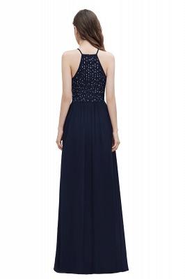 Halter Sequins A-line Evening Dress Chiffon Elegant Party Maxi Dress_3
