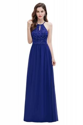 Halter Sequins A-line Evening Dress Chiffon Elegant Party Maxi Dress_2