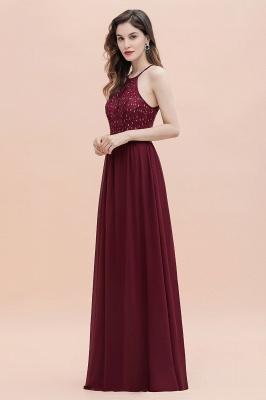 Halter Sequins A-line Evening Dress Chiffon Elegant Party Maxi Dress_14