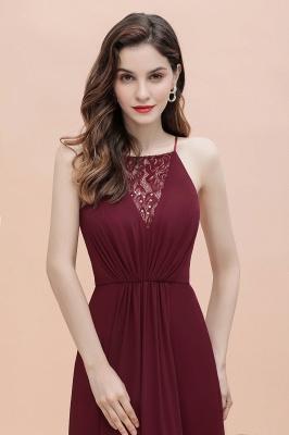 Straps Bateau A-line Sequins Evening Maxi Dress Elegant Chiffon Prom Dress_7